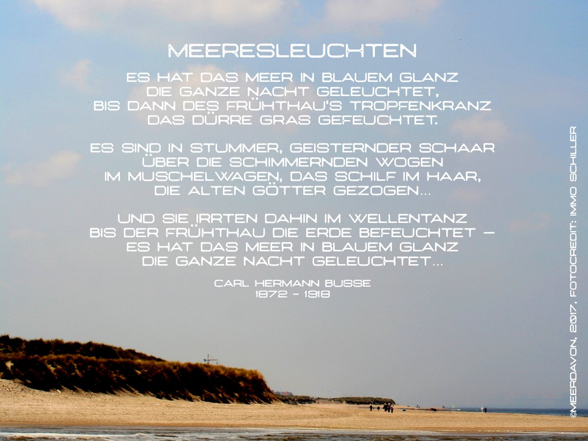 Meerfreude على تويتر Meerpoesie Zum Feierabend Meer