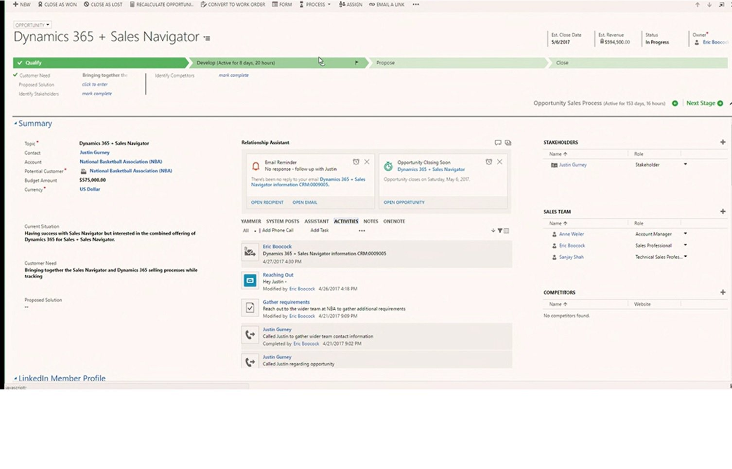 No need to re-save or copy data -> dynamic insights bring the data from YOUR #Office365, #Dynamics365 and #LinkedIn  #msbusinessfwd https://t.co/5BXVzjvswB