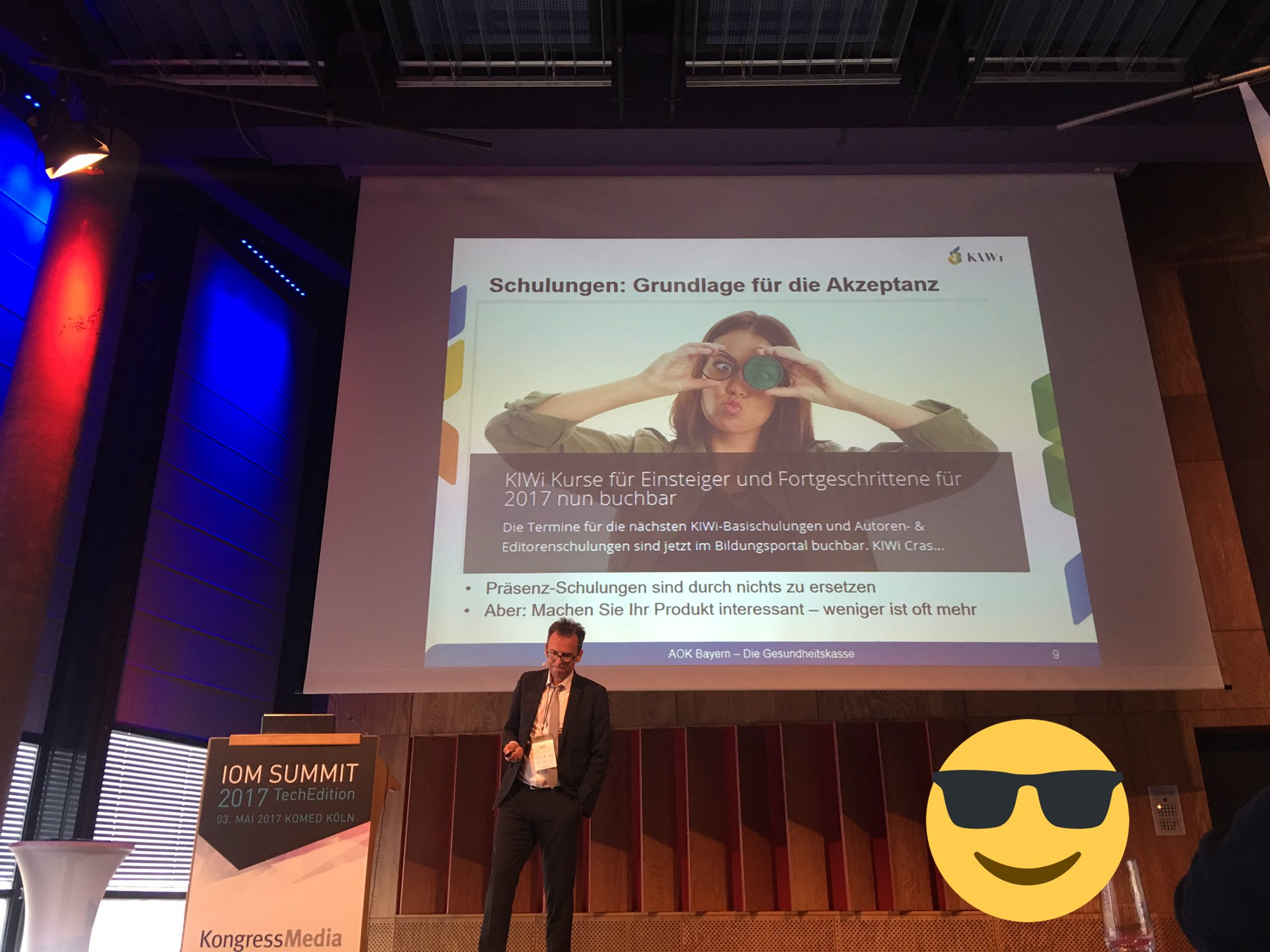 #Frankenpower in #cologne @iomsummit @udo_walz talked about learnings at @AOKBayern #ioms17 #thx https://t.co/Dz2ffDJuxK