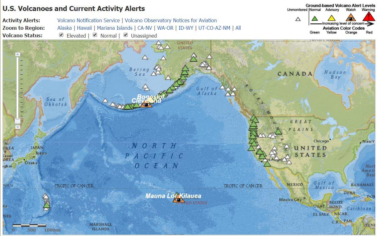 Janine Krippner On Twitter Map Of Volcanoes In The USA - Volcanoes in usa map