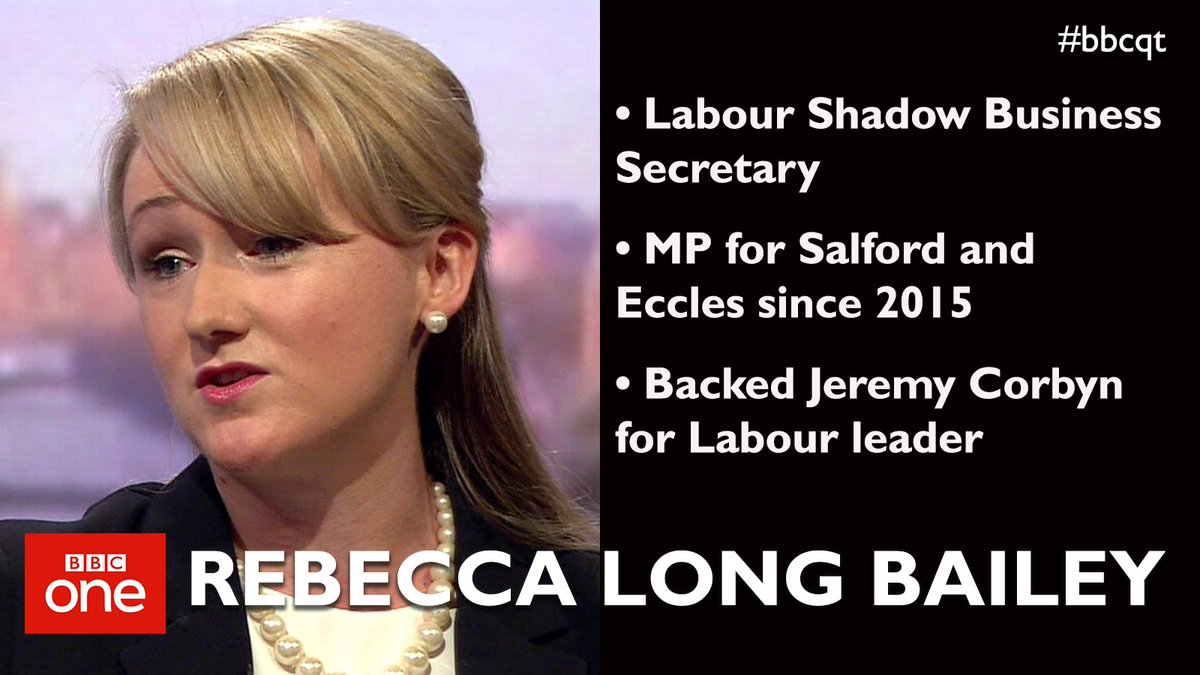Image result for rebecca long bailey on BBC Question Time