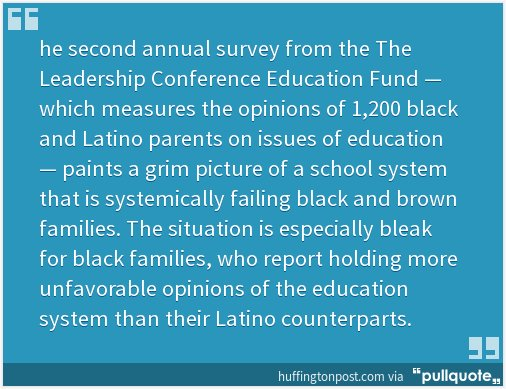 More Parents Of Color Think Racism Is Holding Back Their Children In School | HuffPost https://t.co/1TsMLk28in https://t.co/ihAZKsdVJE