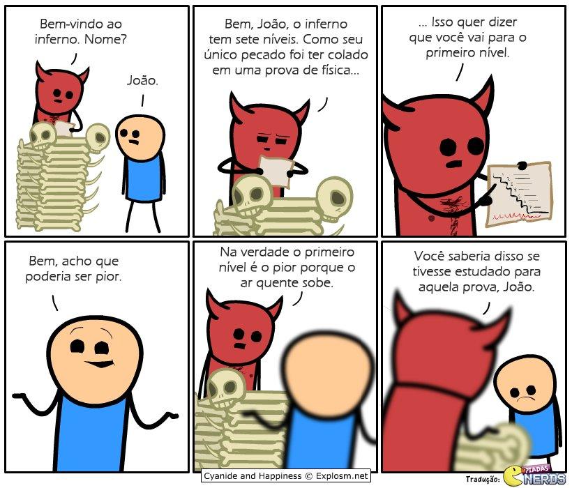 Tem gente que diz que física é um inferno, mas não estudar pode ser pior... https://t.co/hzeZ1Op9QF