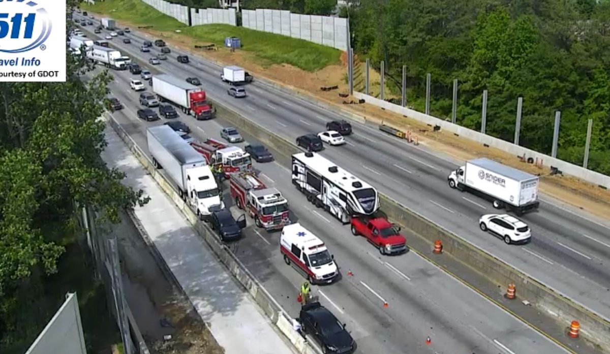 Outer Loop: Cobb Co: Now only 1 left lane open w/ this injury crash