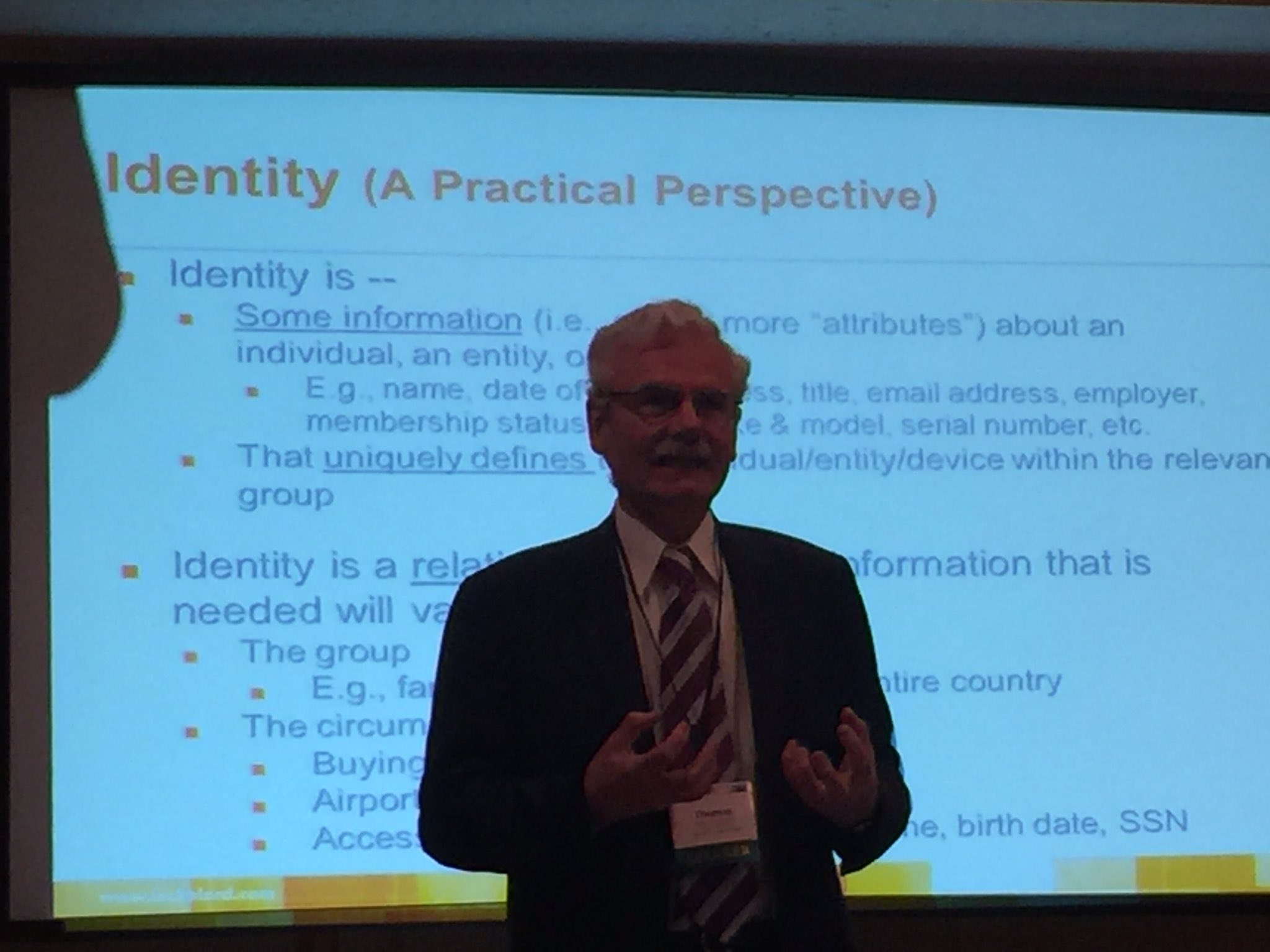 EU is all about #GDPR, whereas US talks about #IdM - in the end, it is all about identity management and trust @itechlaw_assn #ITLchicago https://t.co/KMmC5BUOAD
