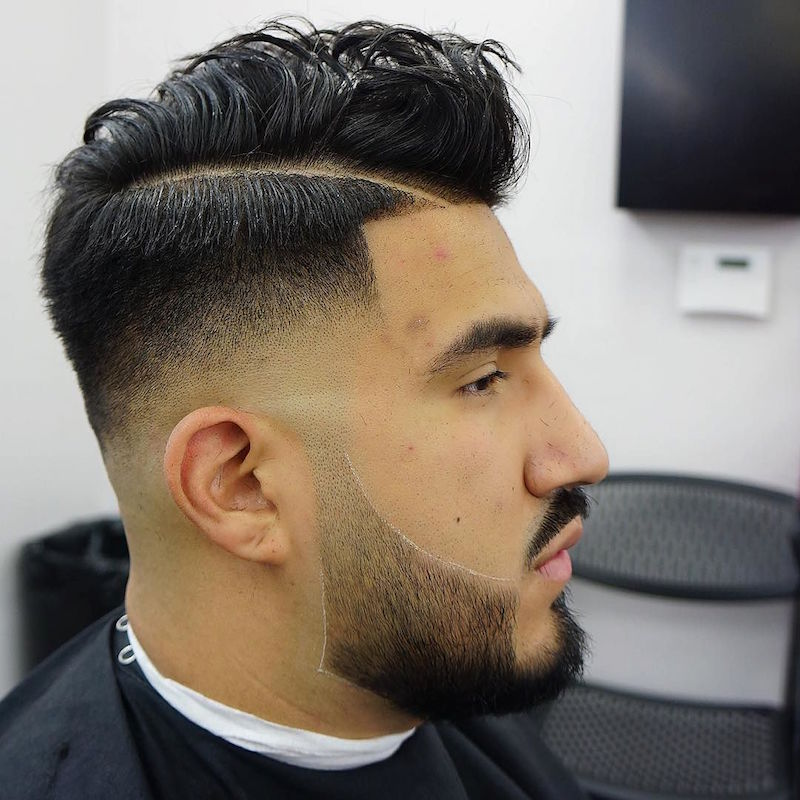 Next Level Barbers On Twitter Low Fade Hard Part Medium Hair On