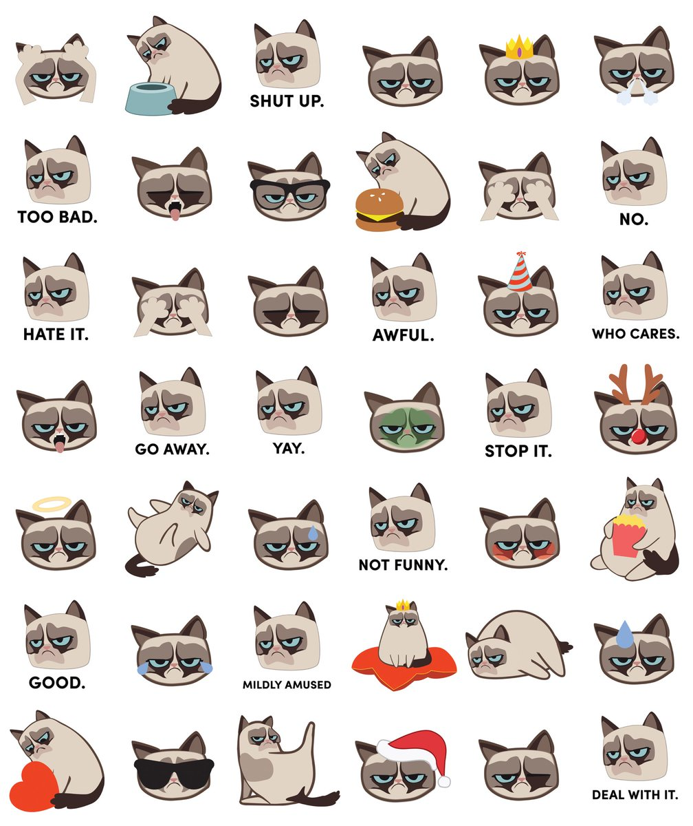 Download #Grumpmoji on the @AppStore. Or don\'t.