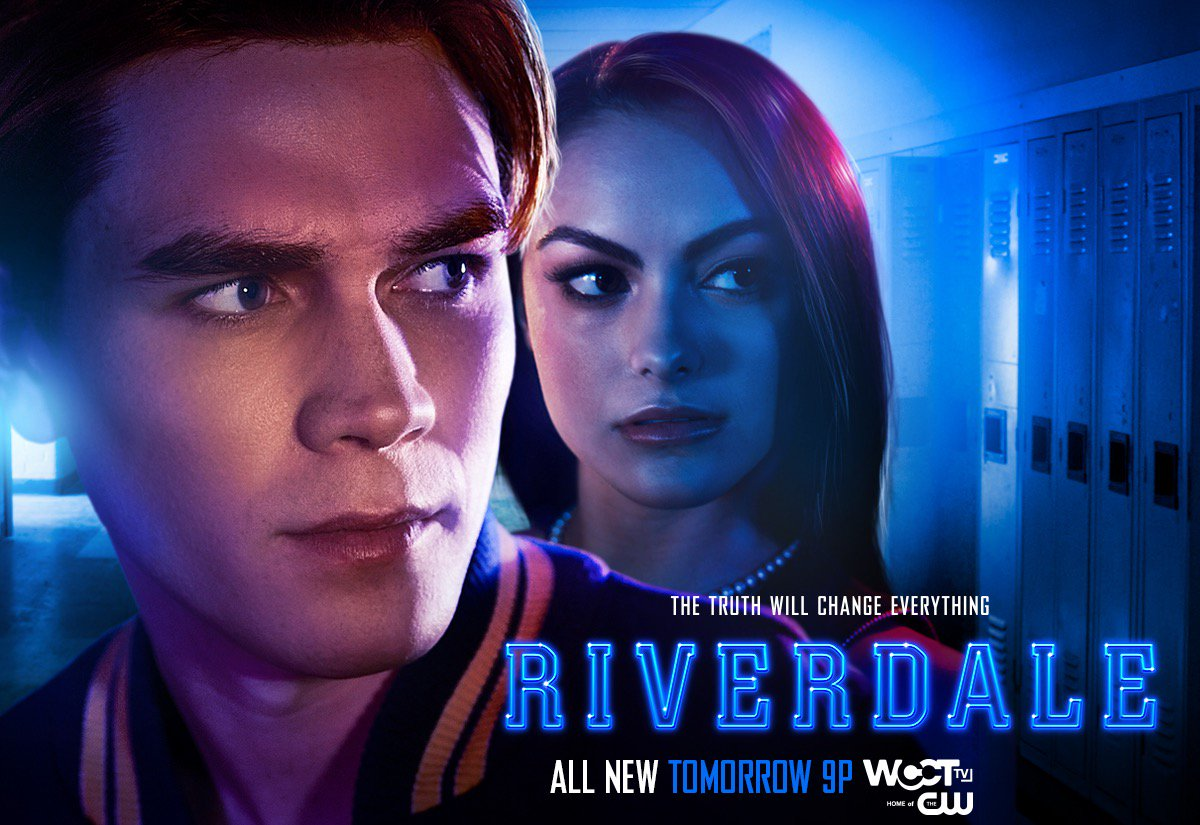 Uncover the truth on an ALL-NEW @CW_Riverdale TOMORROW at 9P on @WCCTtv! https://t.co/dZHQBVDsFk