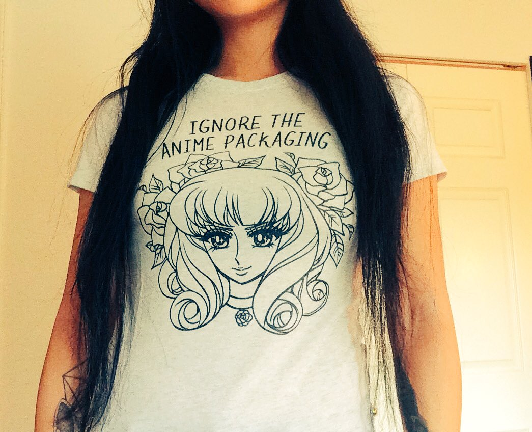 fbd6dec7 I got women's tri-blend in vintage white https://www.teepublic.com/t-shirt /1499398-ignore-the-anime-packaging …pic.twitter.com/BJysWpkarh