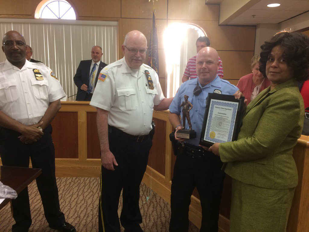 Meet @PottstownPolice officer of the year, Jeffrey Portock https://t.co/qax4VEzMw1