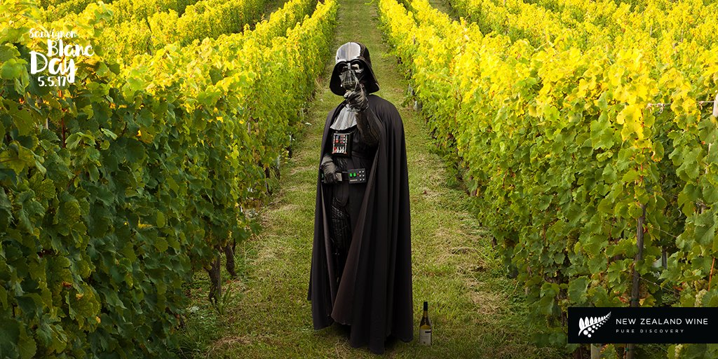 May the 4th be with you tomorrow for #sauvblanc day!