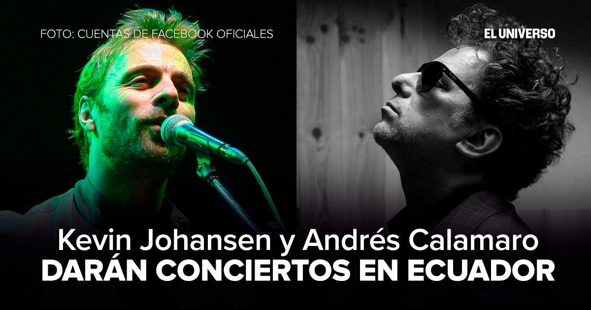 ¡Llega más música a #Ecuador! @k_Johansen y @calamarooficial visitarán el país ► https://t.co/68mSJGcsbh https://t.co/qZMrm2JUjm