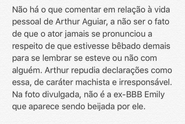 Assunto encerrado. #EquipeArthurAguiar https://t.co/xBeNds0AJH