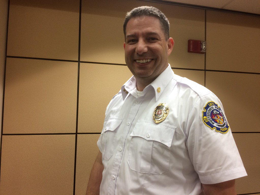 Michael Lesser Jr. Is Pottstown' new fire chief. https://t.co/zh0i6y9Spp