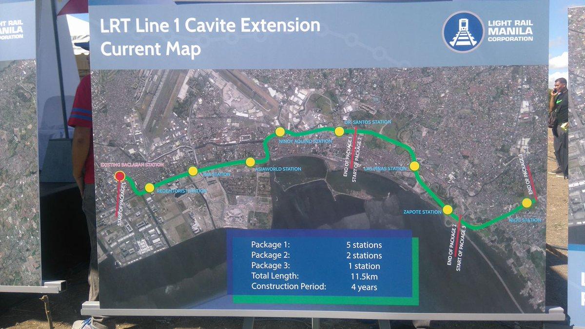 Parañaque Cavite : stations construction LRT extension
