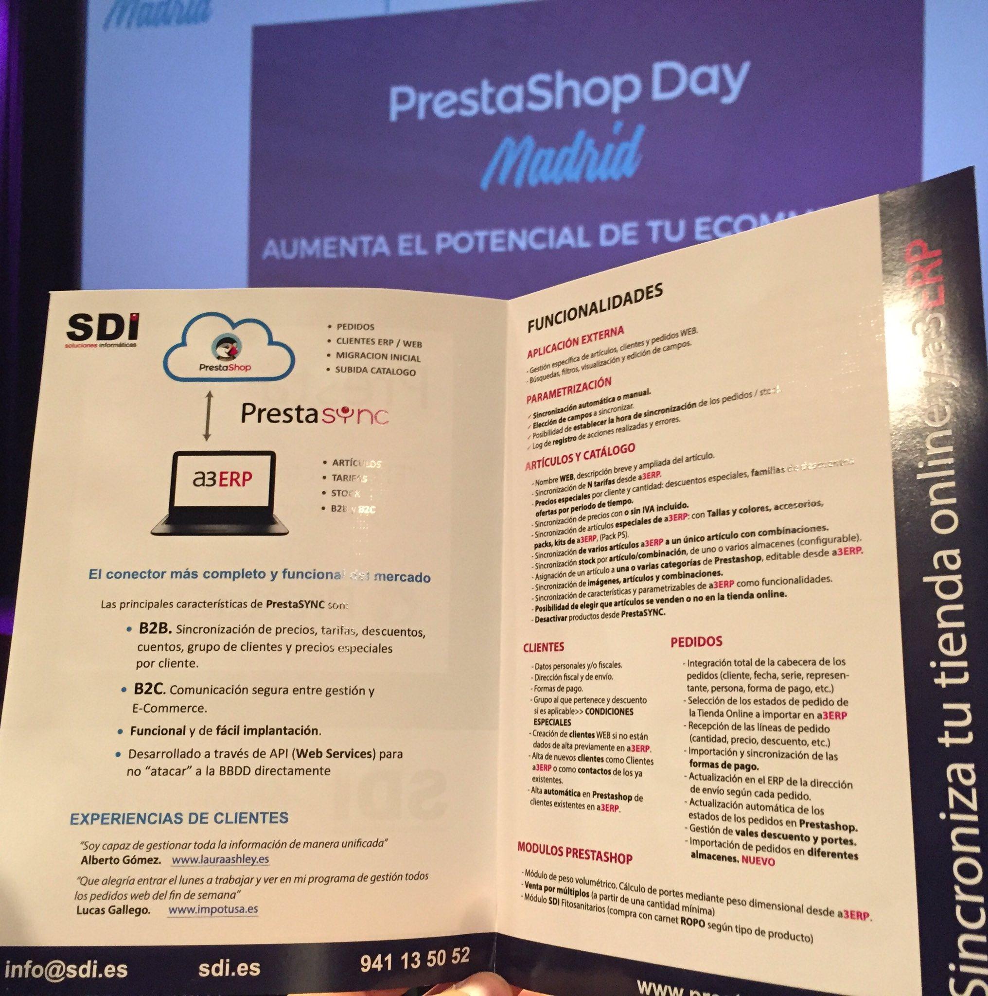 SDI patrocina el PrestaShop Day 3