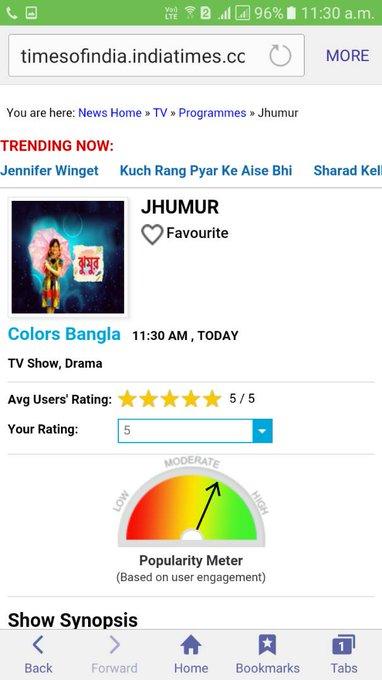 #JHUMUR at 7.30 on @ColorsBangla  @Ninotchkaa @SuvonkarB https://t.co/DfhstzoXPe