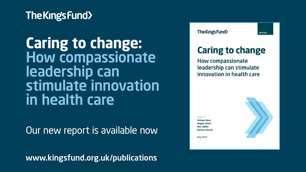 Our new report on compassionate leadership is out today: https://t.co/S4xILwfjCT https://t.co/lYlQFTVkyn