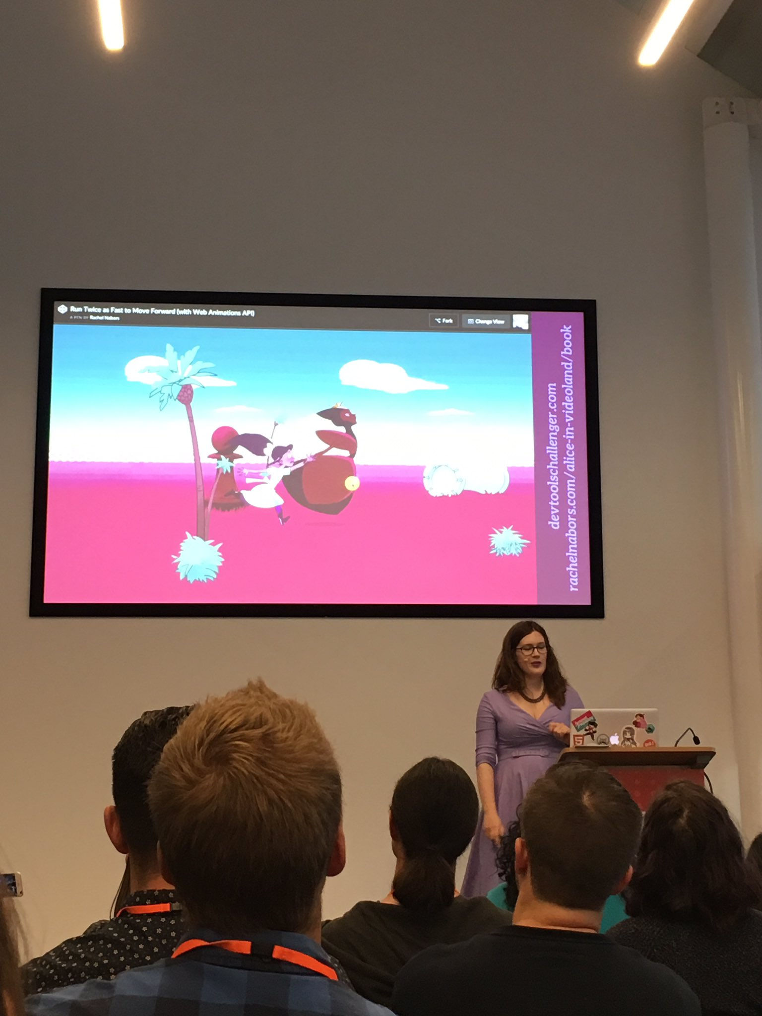 Wow, my appreciation for web animation has grown to much today thanks to @rachelnabors' captivating talk #respond17 https://t.co/5TPRvFIOpg