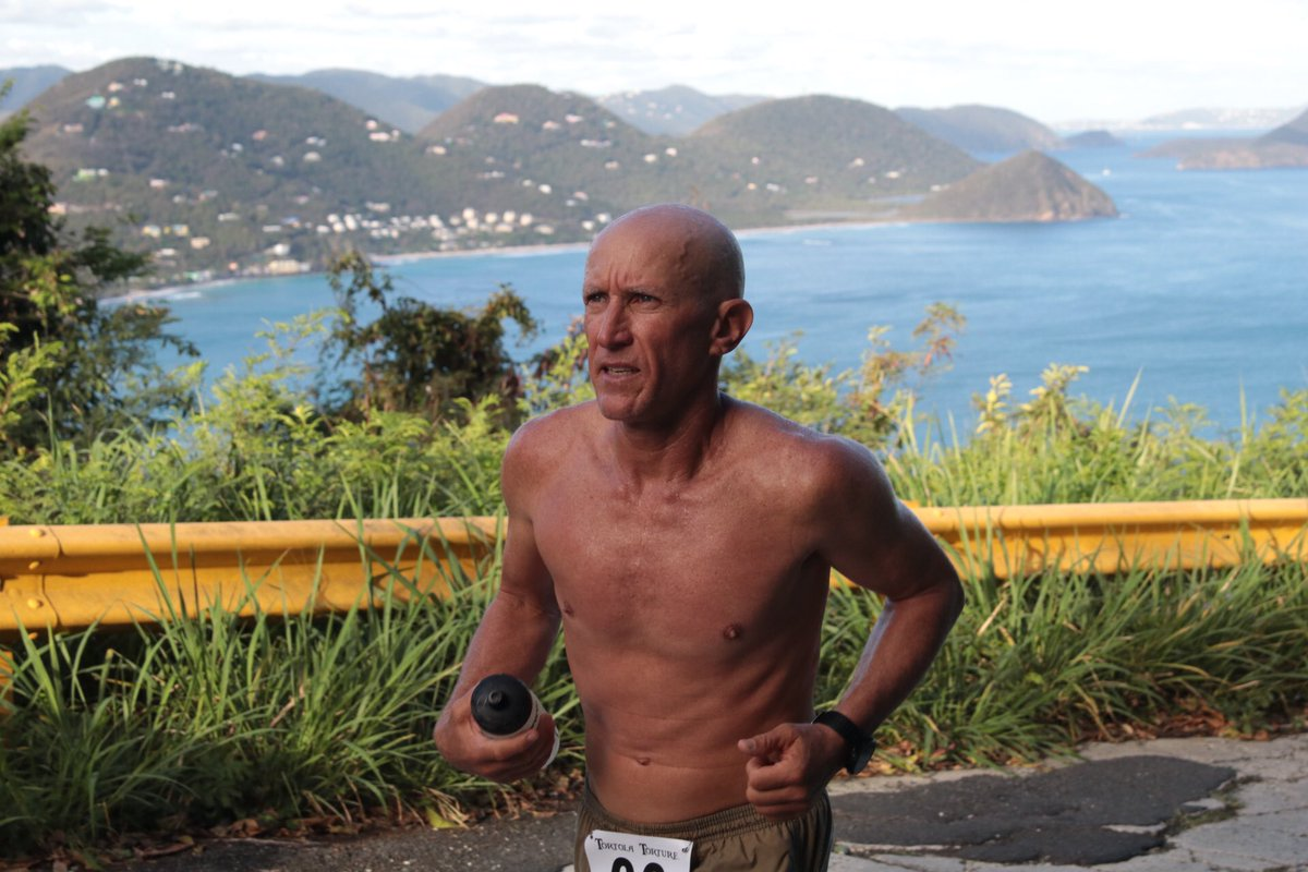 Mike Klein looking good on the climb from Stoutt&#39;s to Sage Mountain #bvi #ultramarathon <br>http://pic.twitter.com/XVN3nMXqEt