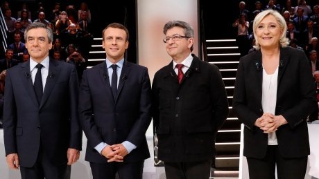 Polls show tight 4-way race in 1st round of French presidential vote h...