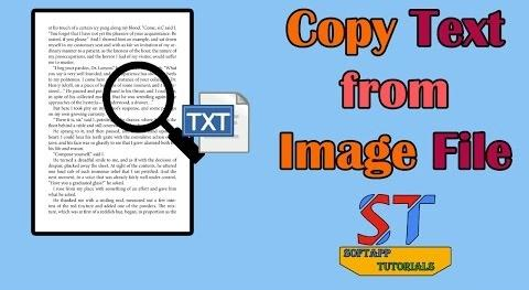 How to Copy Text from Image File