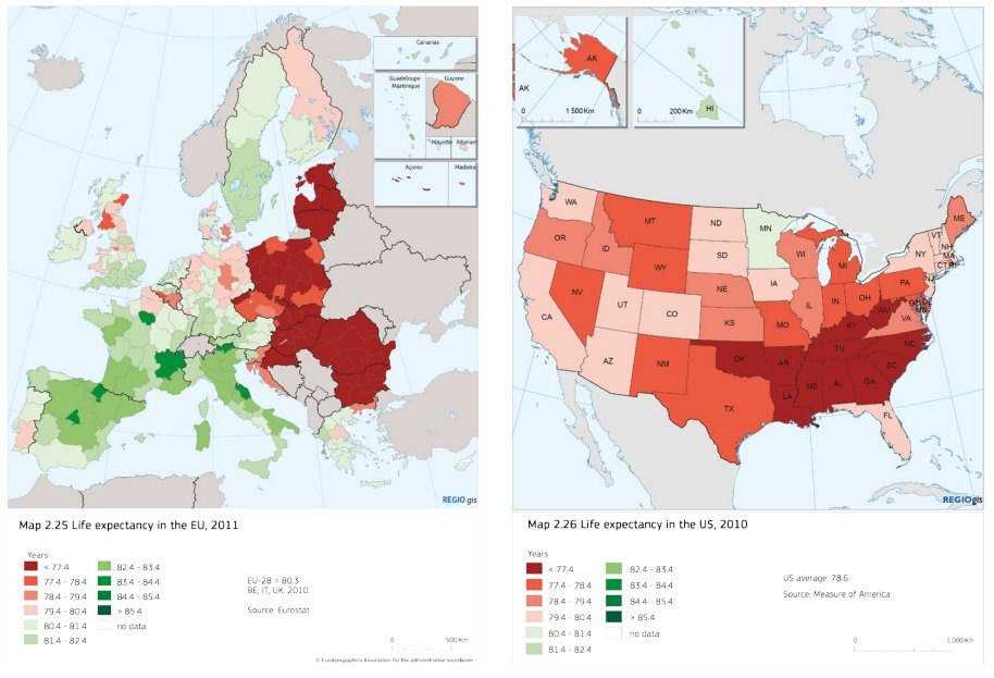 Max Roser on Twitter Life expectancy in the US and in Europe on