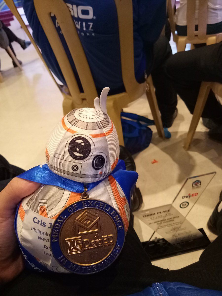 #TheAdventuresOfBB8 s1 finale part 2 This is where it ends! He's not used to the much bigger medal, but he's hanging in there.