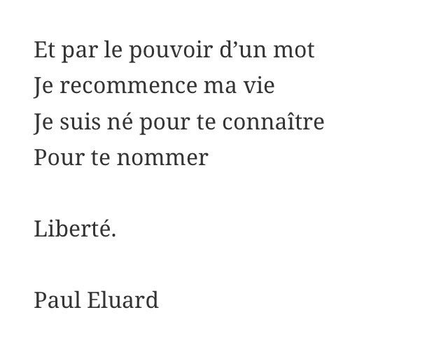 NE. JAMAIS. OUBLIER. #presidentielle #23avril #vavoterbordel   http://www. poetica.fr/poeme-279/libe rte-paul-eluard/ &nbsp; … <br>http://pic.twitter.com/K8cGpjXzUu