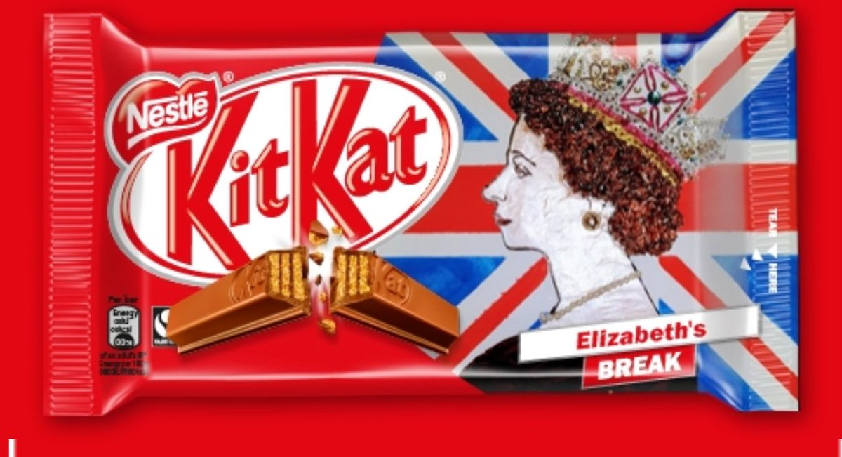 Kitkat fit fir the queen #kitkat #Queenat91 #queensbirthday