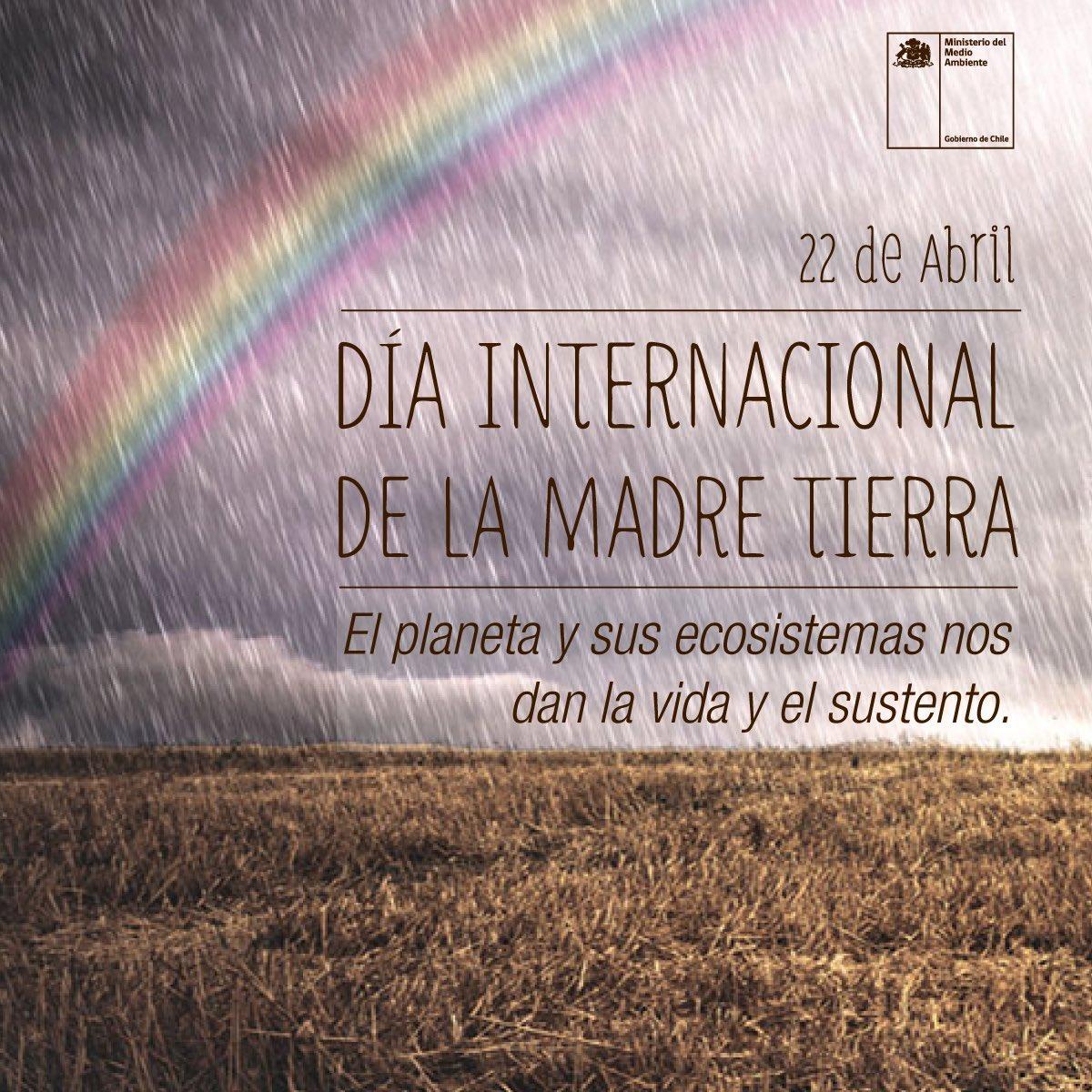 Hoy celebramos el #DiaDeLaTierra para recordar que el planeta y sus ecosistemas nos dan la vida y el sustento. https://t.co/HdCLQ8AvBh