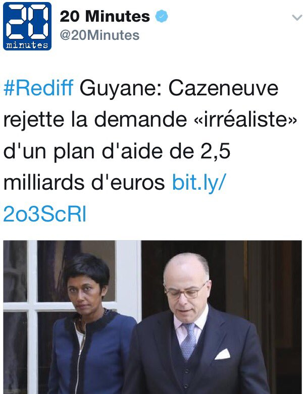Finalement, l'Etat a cédé 3 milliards à la #Guyane, somme jugée 'irrealiste' le 4 avril. Ils ont gagné au loto ou calcul électoral?
