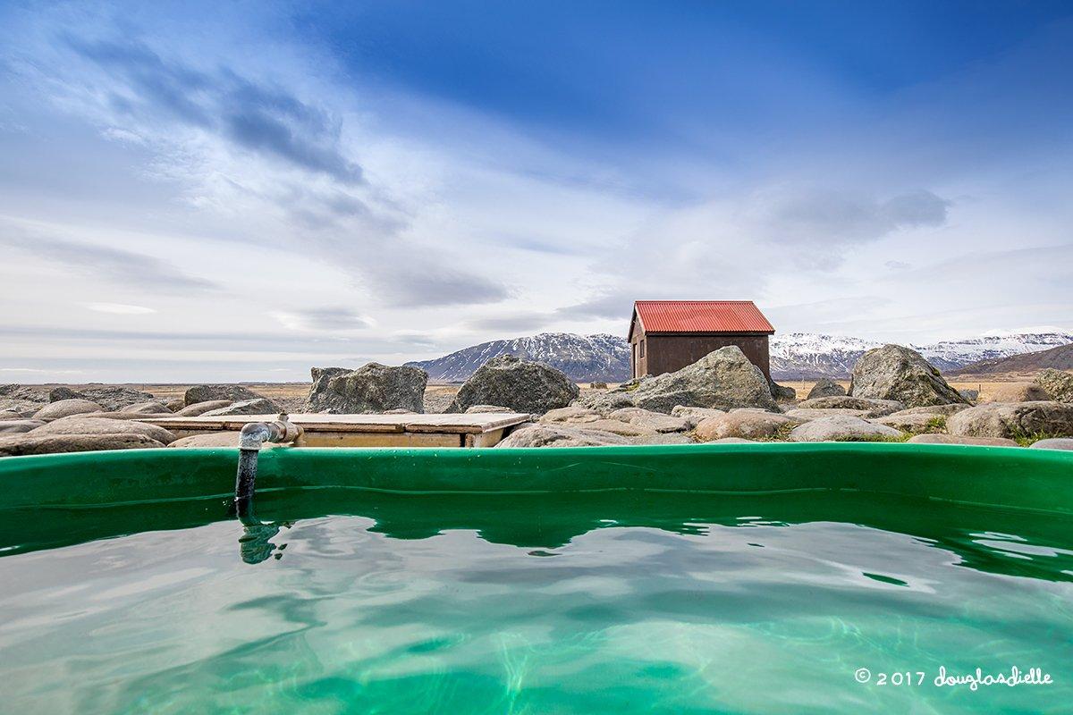 Hoffell hot tub, Iceland