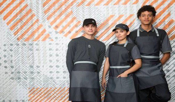 McDonald's new uniform: hot or existentially depressing? wapo.st/2po9XMJ