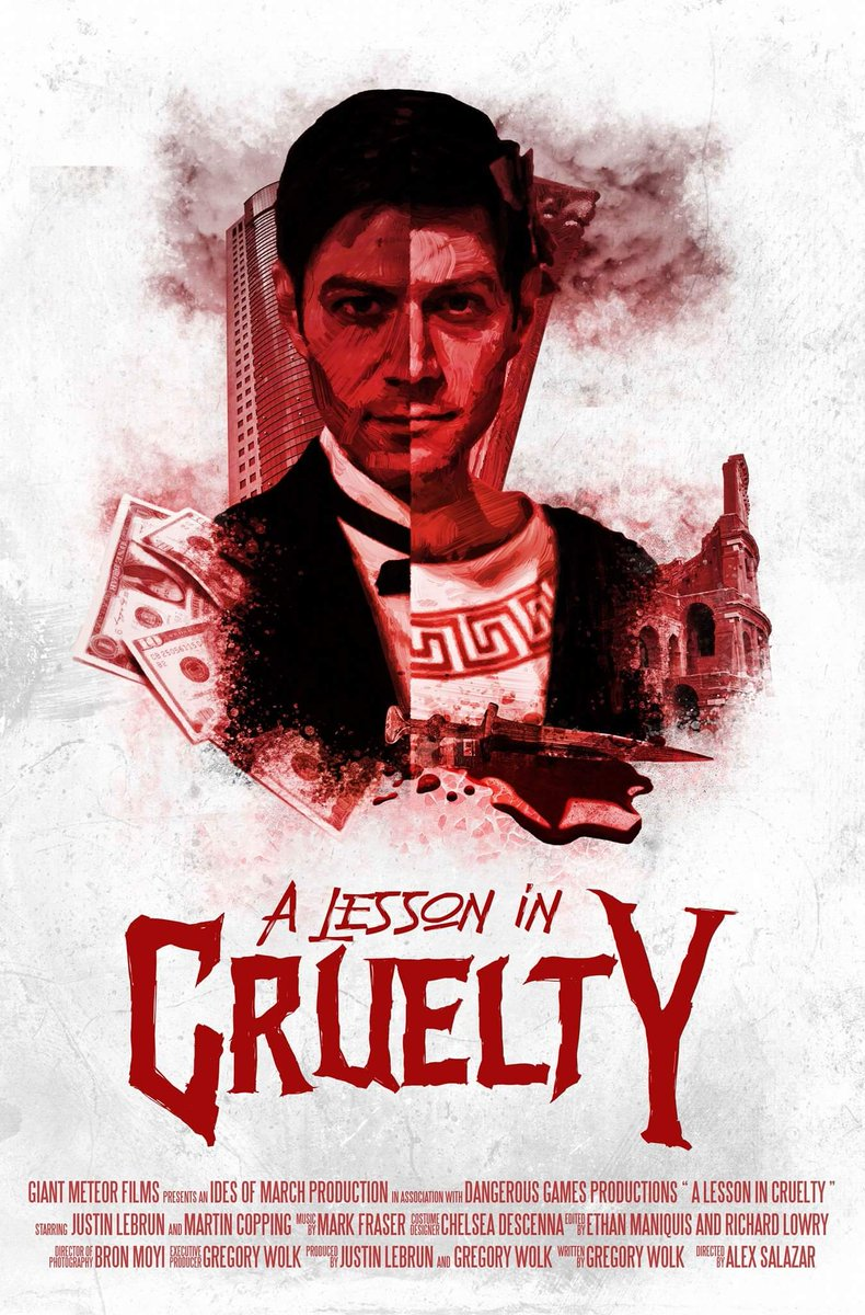 Our official movie poster!!!  &quot;A Lesson in Cruelty&quot; #darkcomedy #cannes #film #visitlakecharles #neworleans #goldmansachs #entrepreneuer<br>http://pic.twitter.com/v14Ybp36xG