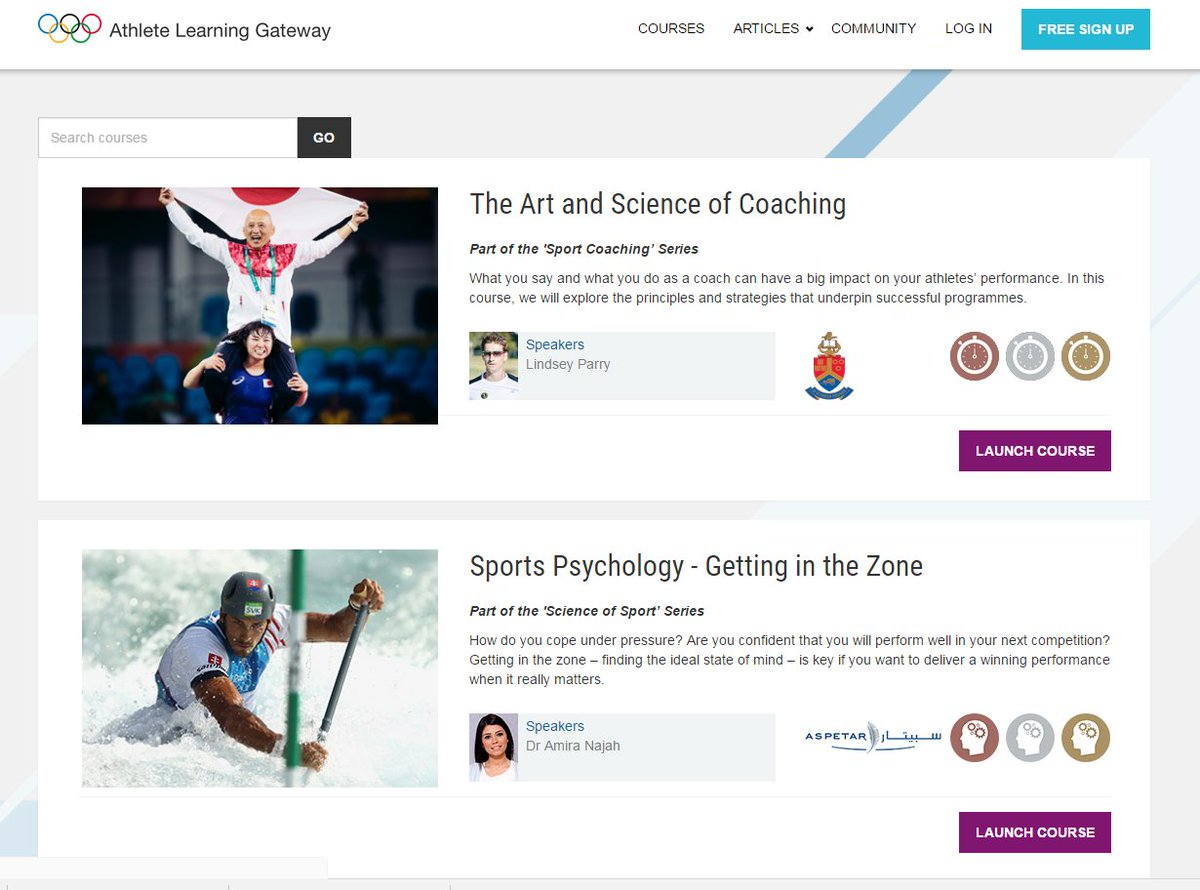 Calling all #coaches – over 21 free short courses 2 benefit you &amp; your #athletes - the Athlete Learning Gateway #ALG  http:// onlinecourse.olympic.org / &nbsp;  <br>http://pic.twitter.com/5cTrfBIE6p