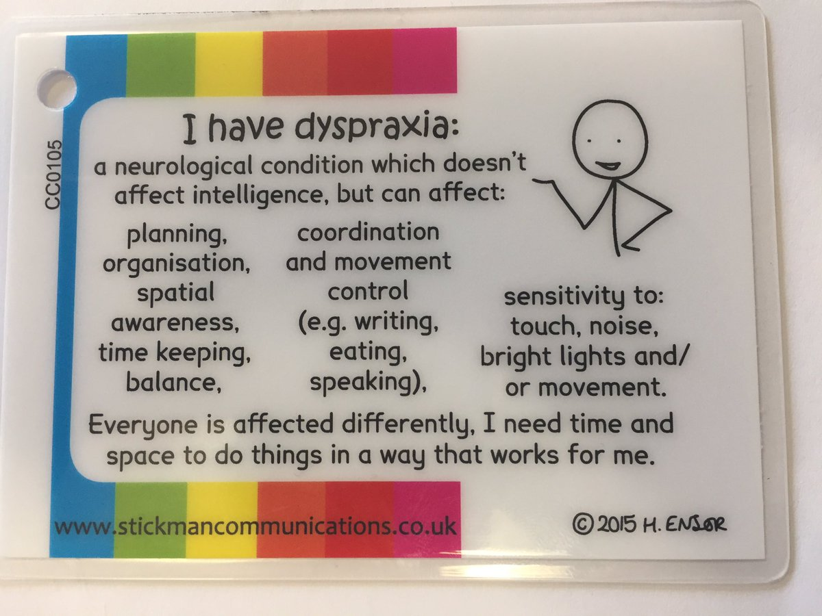 Useful #Dyspraxia keyring card from our online shop only £2 https://t.co/ycDevUqjrP https://t.co/UTyZ8RDNbe