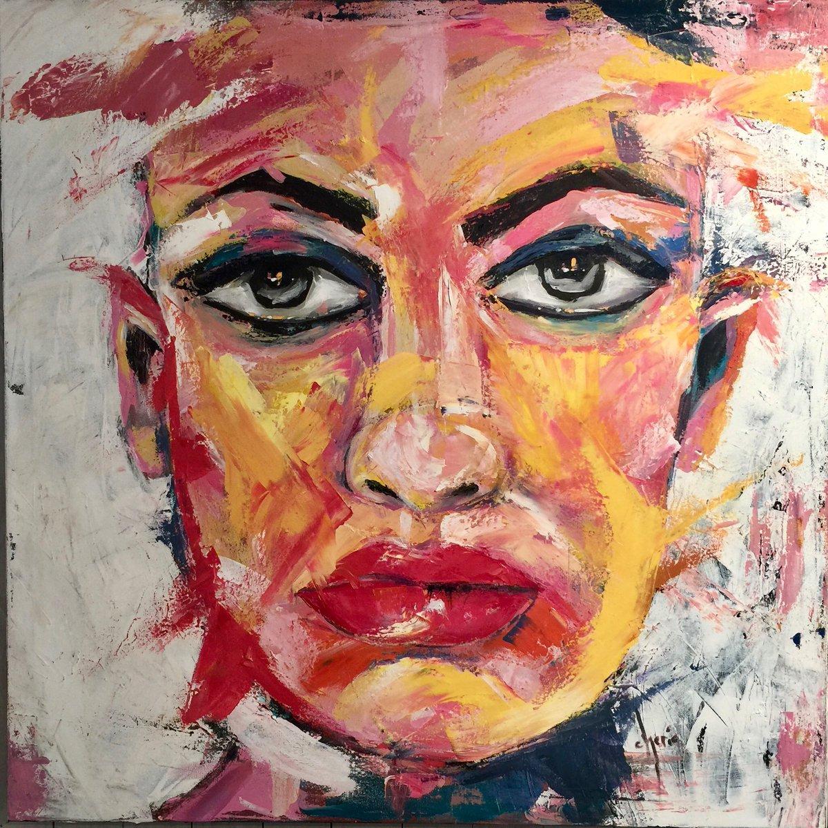 cherie fruehan on twitter define smudge 40 x 40 acrylic on canvas