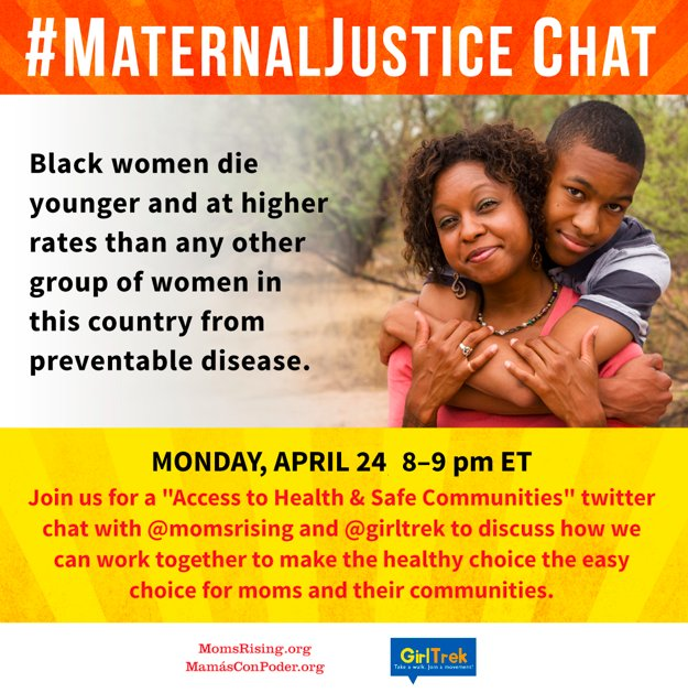 Thumbnail for Access to Healthy Communities - #MaternalJustice Tweetchat w/ GirlsTrek