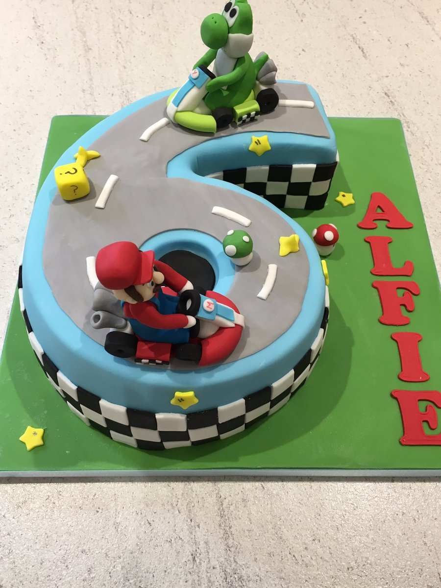 Stupendous Uniquecakecreations On Twitter Mario Kart 6Th Birthday Cake Personalised Birthday Cards Sponlily Jamesorg