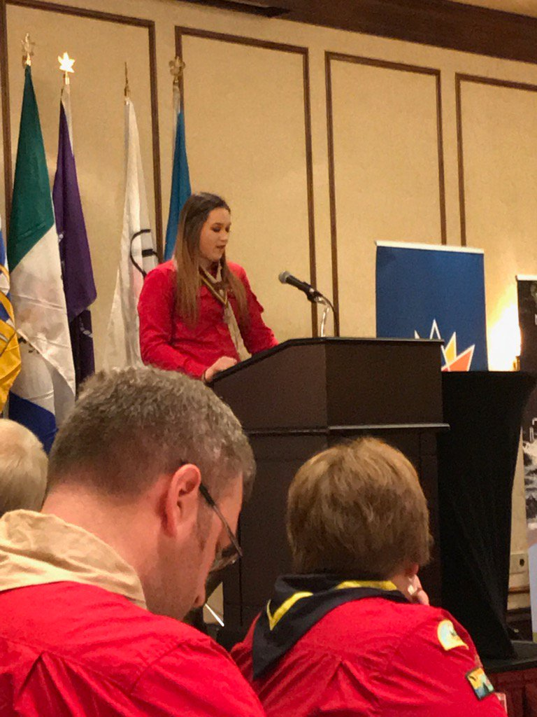 Caitlyn speaking to the QVA Recipients at #bcyqva17