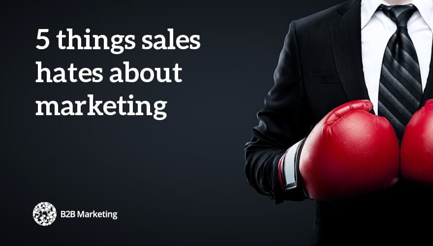 5 things sales hates about marketing (and how to fix them) https://t.co/TZuG5o2cb5 https://t.co/qUm5BoylEF