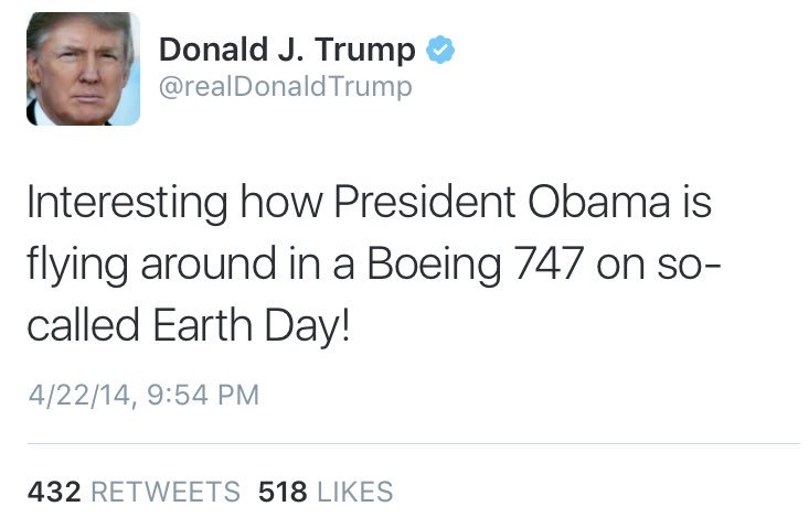 @realDonaldTrump you mean today on 'so-called Earth Day'