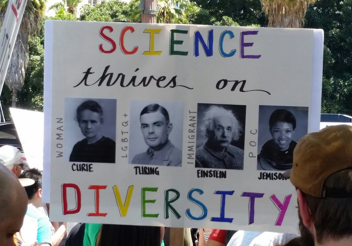 Science Thrives on Diversity #ScienceMarchLA https://t.co/3NGVOPL0QS