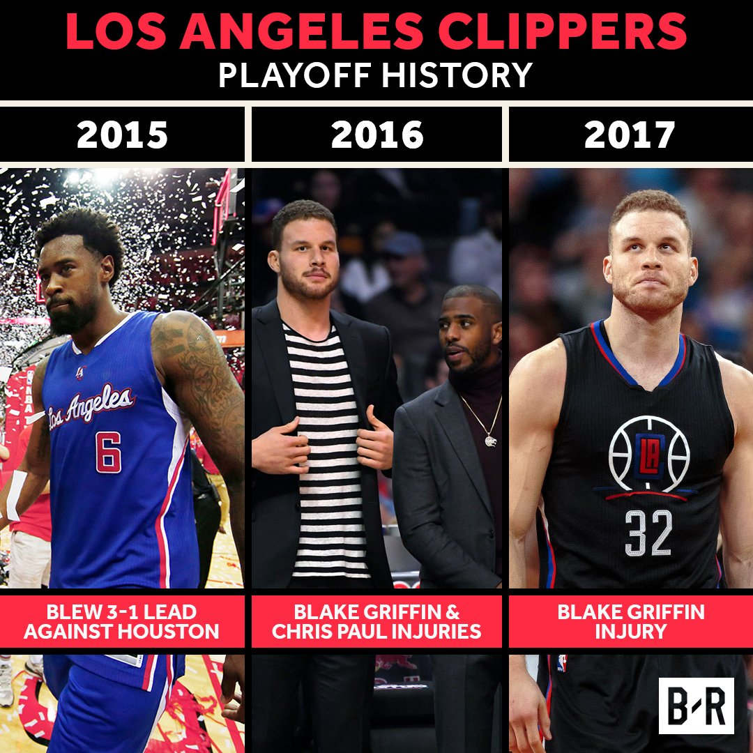 Blake Griffin is out for the postseason and the Clippers curse continues.
