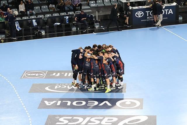 1/4 de finale aller Veszprem 26 - 23 Montpellier Match retour décisif le week-end prochain à Bougnol #ChampionsLeaguepic.twitter.com/wlwkmghHRU