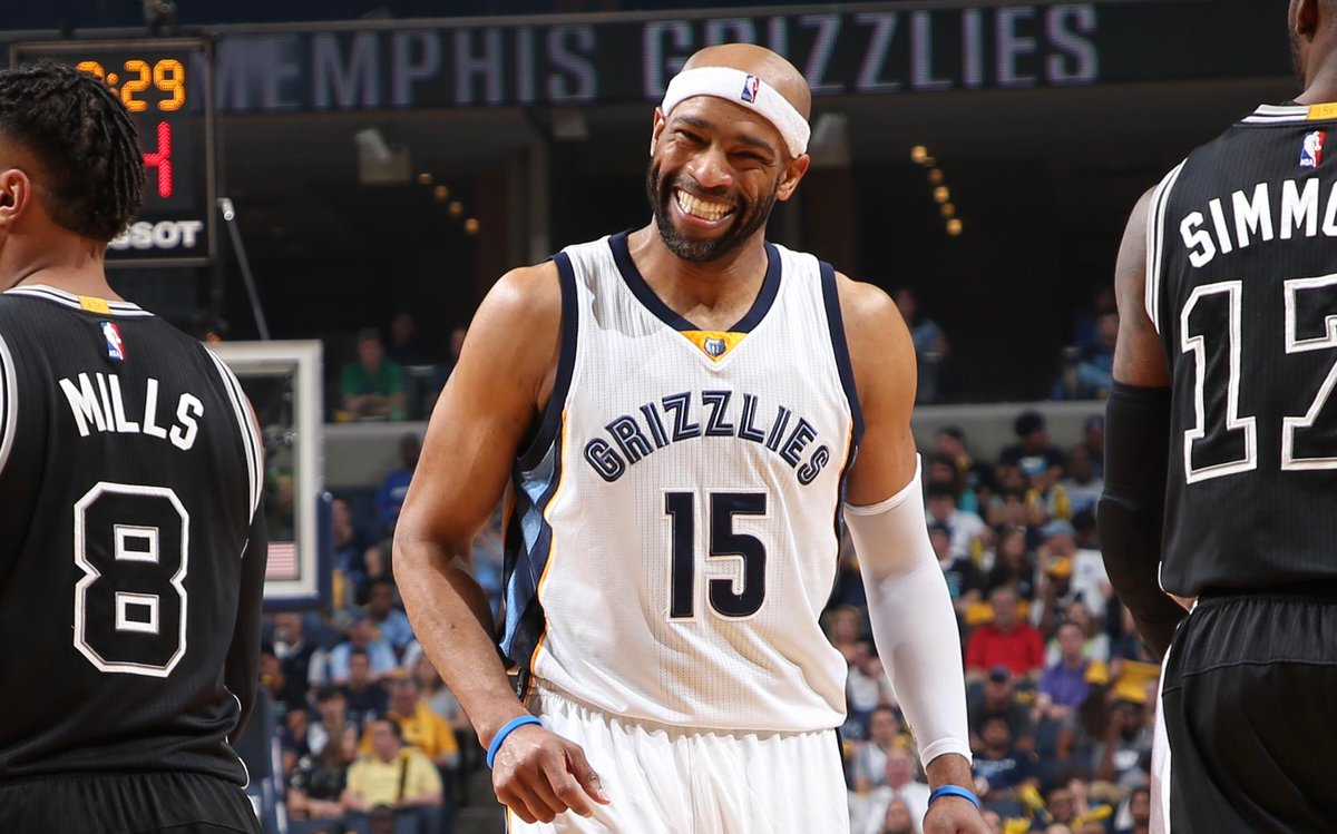 Vince Carter is the first ever 40-year-old to make at least three 3-pt...