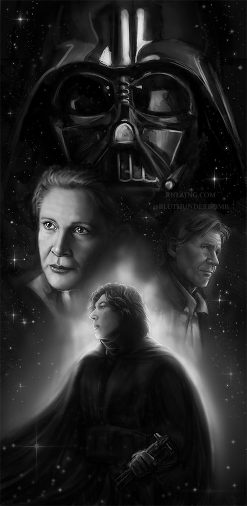 &#39;The Balance&#39; Finished. #kyloren #bensolo #starwars #leia #hansolo #darthvader #thelastjedi #theforceawakens<br>http://pic.twitter.com/opZeuebHeE