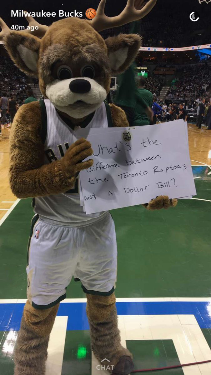It was all jokes before Game 4 for the Bucks' mascot ble.ac/2p7Uv6J