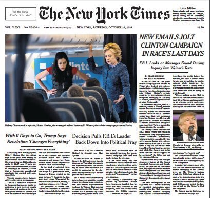 One thing about this is there weren't any new emails.
